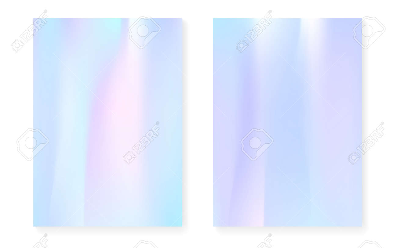 Hologram gradient background set with holographic cover  90s,