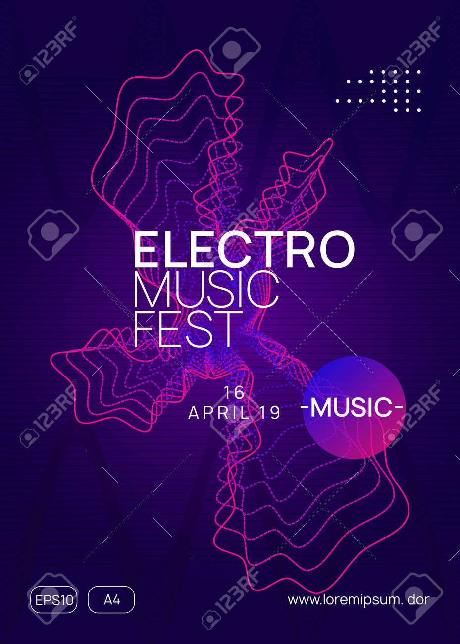 Techno Event Creative Concert Banner Design Dynamic Gradient Royalty Free Cliparts Vectors And Stock Illustration Image 124773056