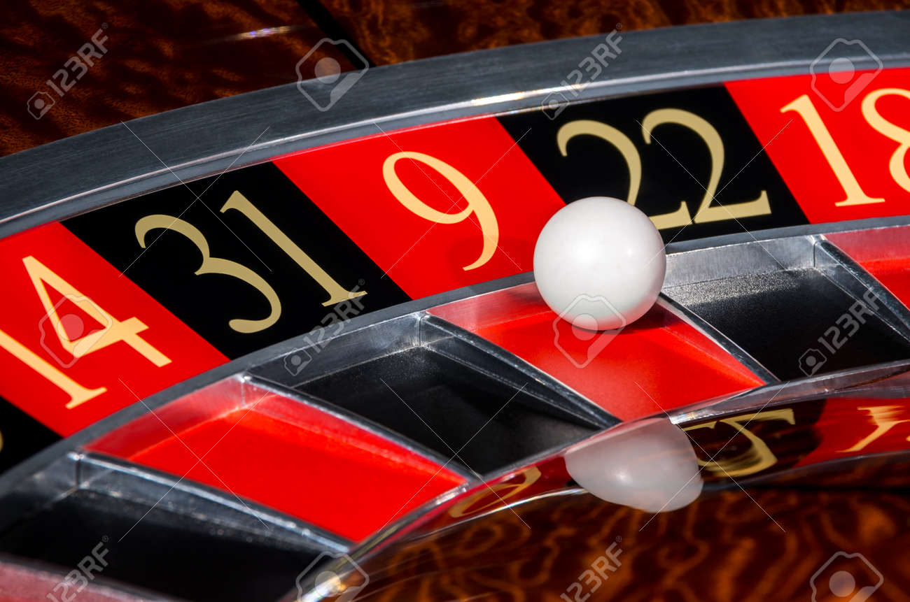 Layout of american roulette table