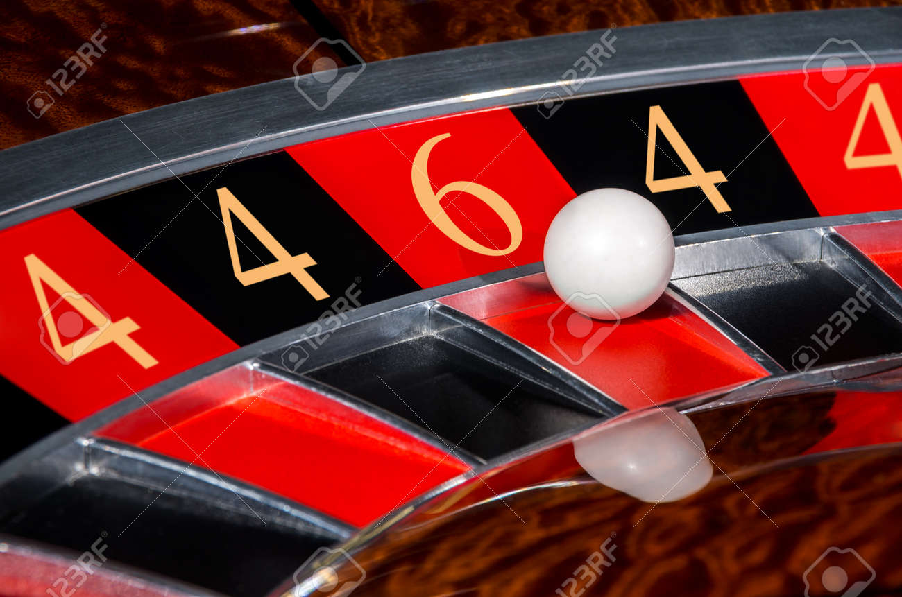Concept of classic casino code 4-4-6-4-4 lucky numbers roulette