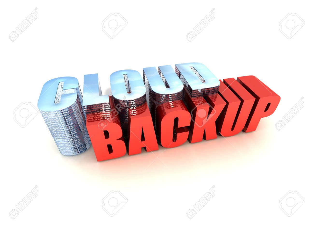 Web-based Data Backup Service Isolated on White Background Stock Photo - 9209399