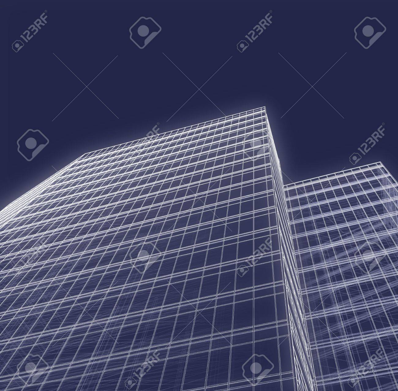 3d office tower drawing stock photo 9532953 abstract 3d office building