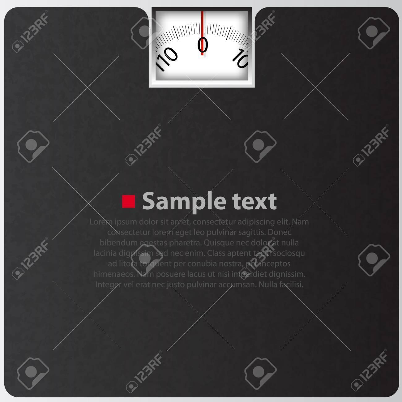 Black Bathroom Scales Black Bathroom Scale Concept Vector Background Text Place