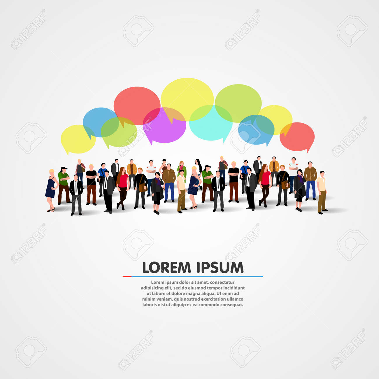 Business social networking and communication concept. Vector illustration Stock Vector - 35859382