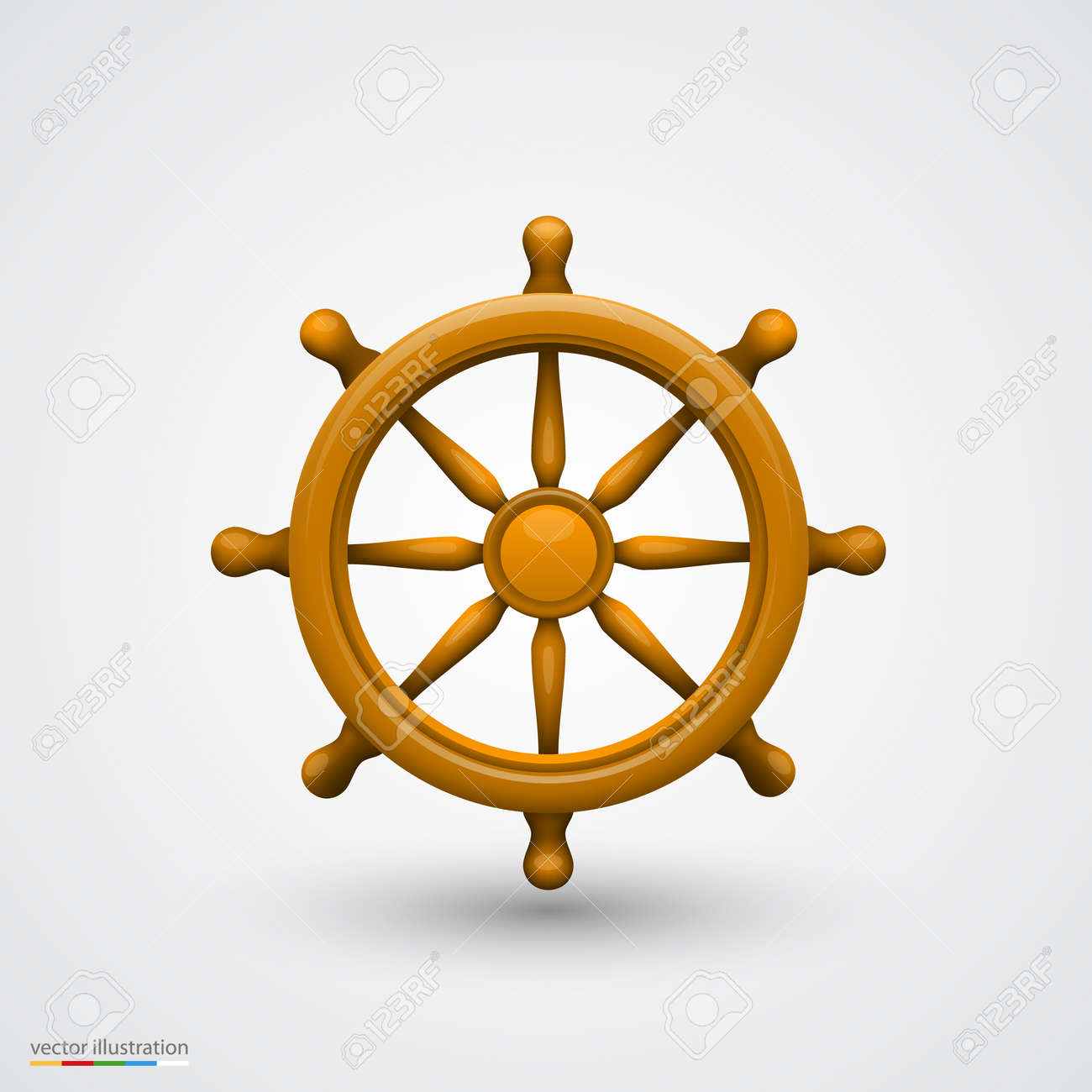 Wooden Ship Wheel Art Object Vector Illustration Royalty Free Cliparts Vectors And Stock Illustration Image 35951435