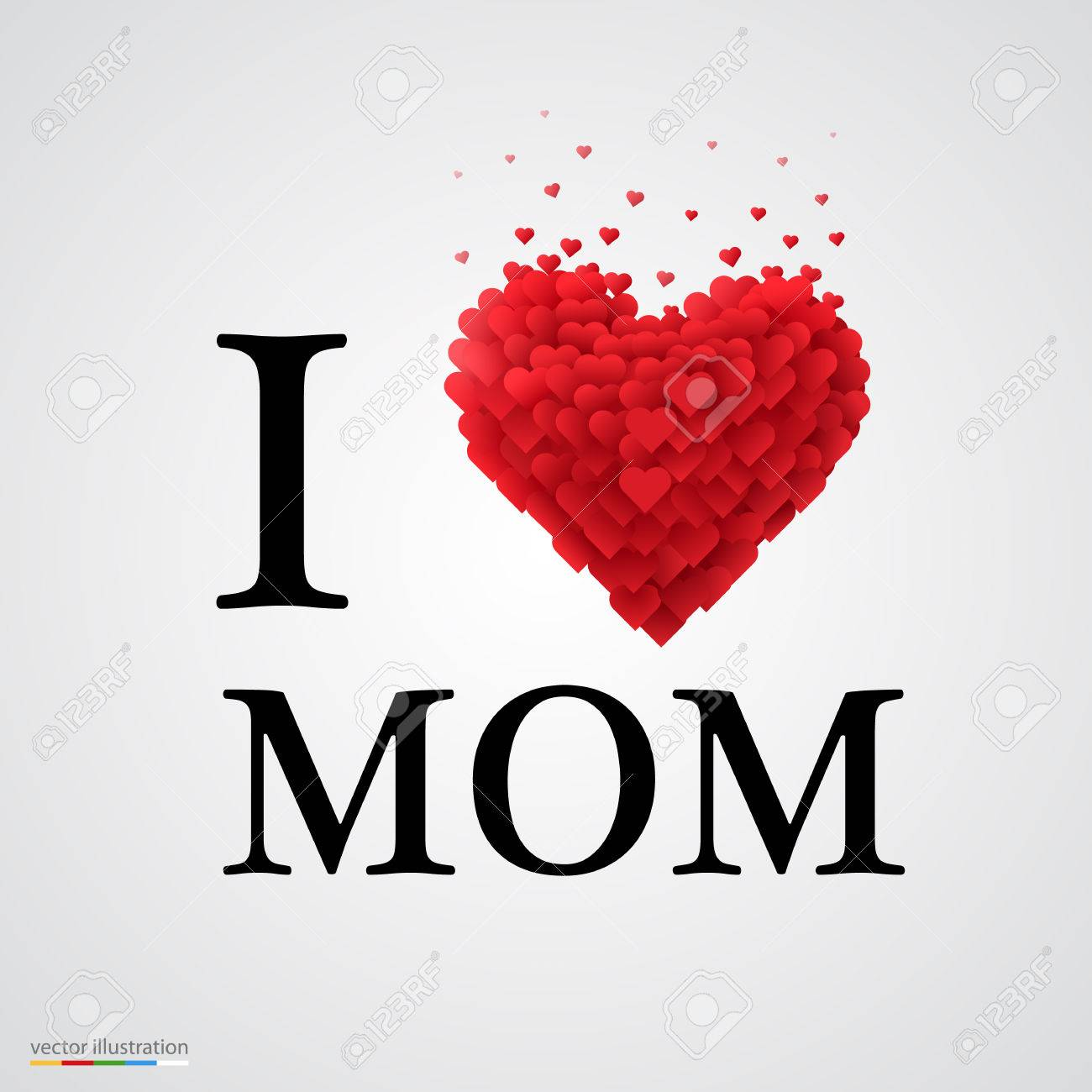 photograph regarding I Mom identify i appreciate mother, font design with center indication.