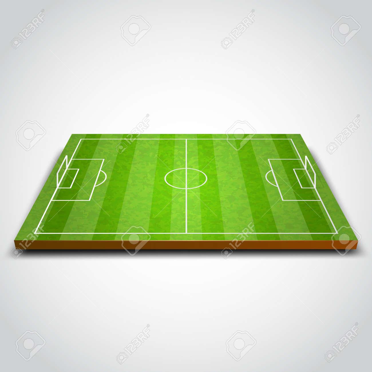 Clear green football or soccer field. Vector illustration - 35949368