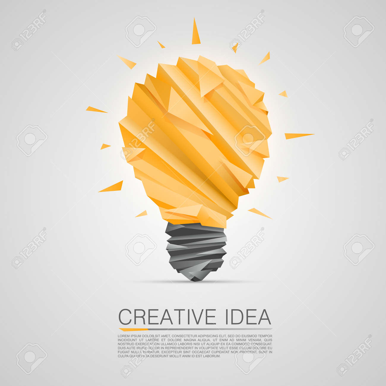 creative idea of origami lamp vector illustration royalty free rh 123rf com lamp vector ai lamp vector free download