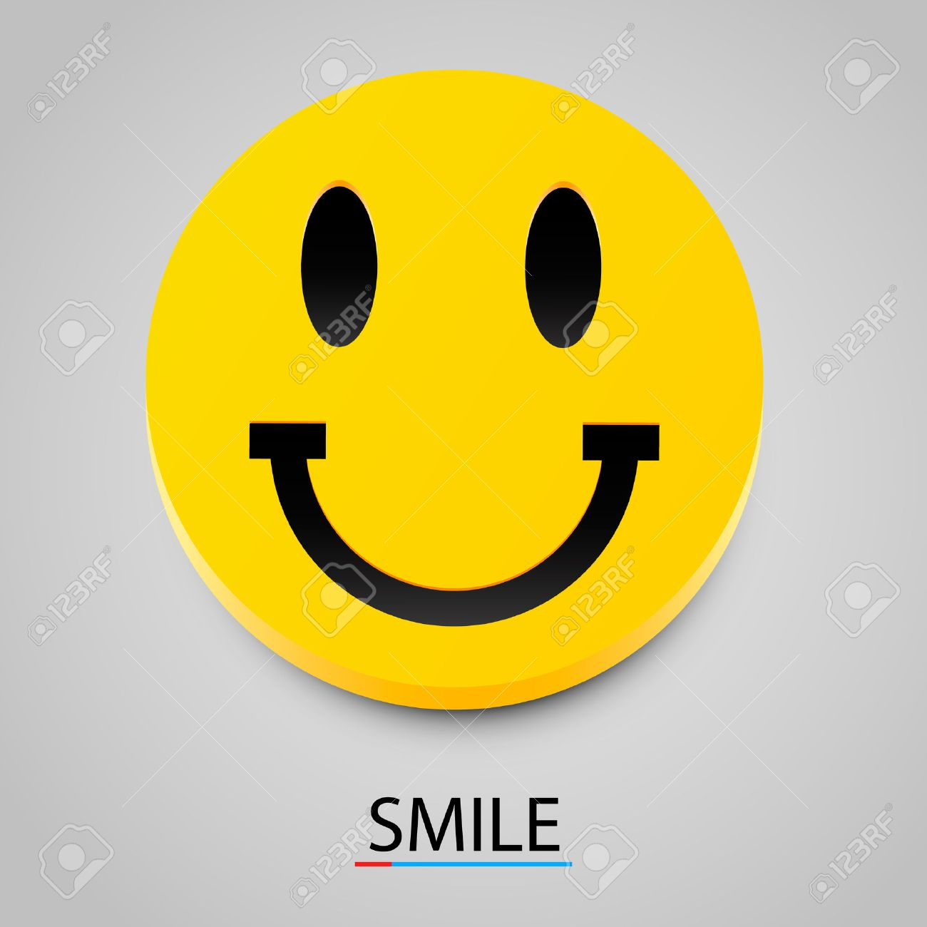 Modern yellow laughing happy smile. Vector illustration - 46955349