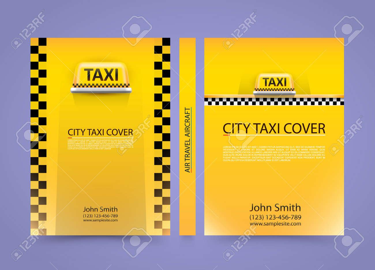 Taxi Carte De Visite Trafic Couvercle Arriere Plan Du Papier