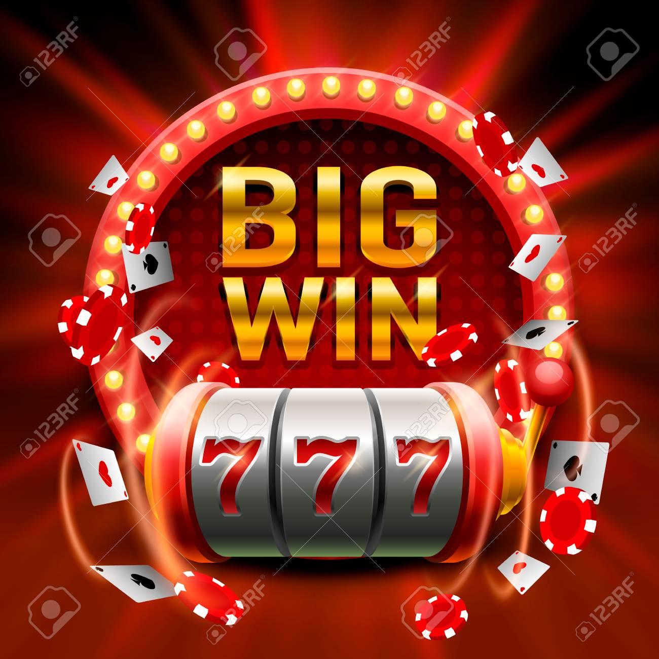Big Win Slots 777 Banner Casino Royalty Free Cliparts Vectors And Stock Illustration Image 85929866