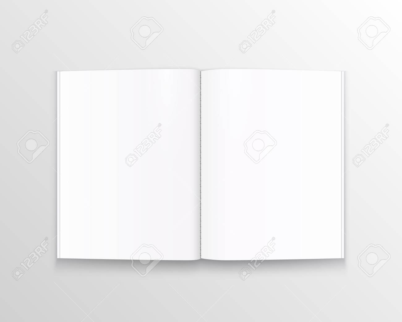 Open paper book with text art. Vector illustration - 128488877