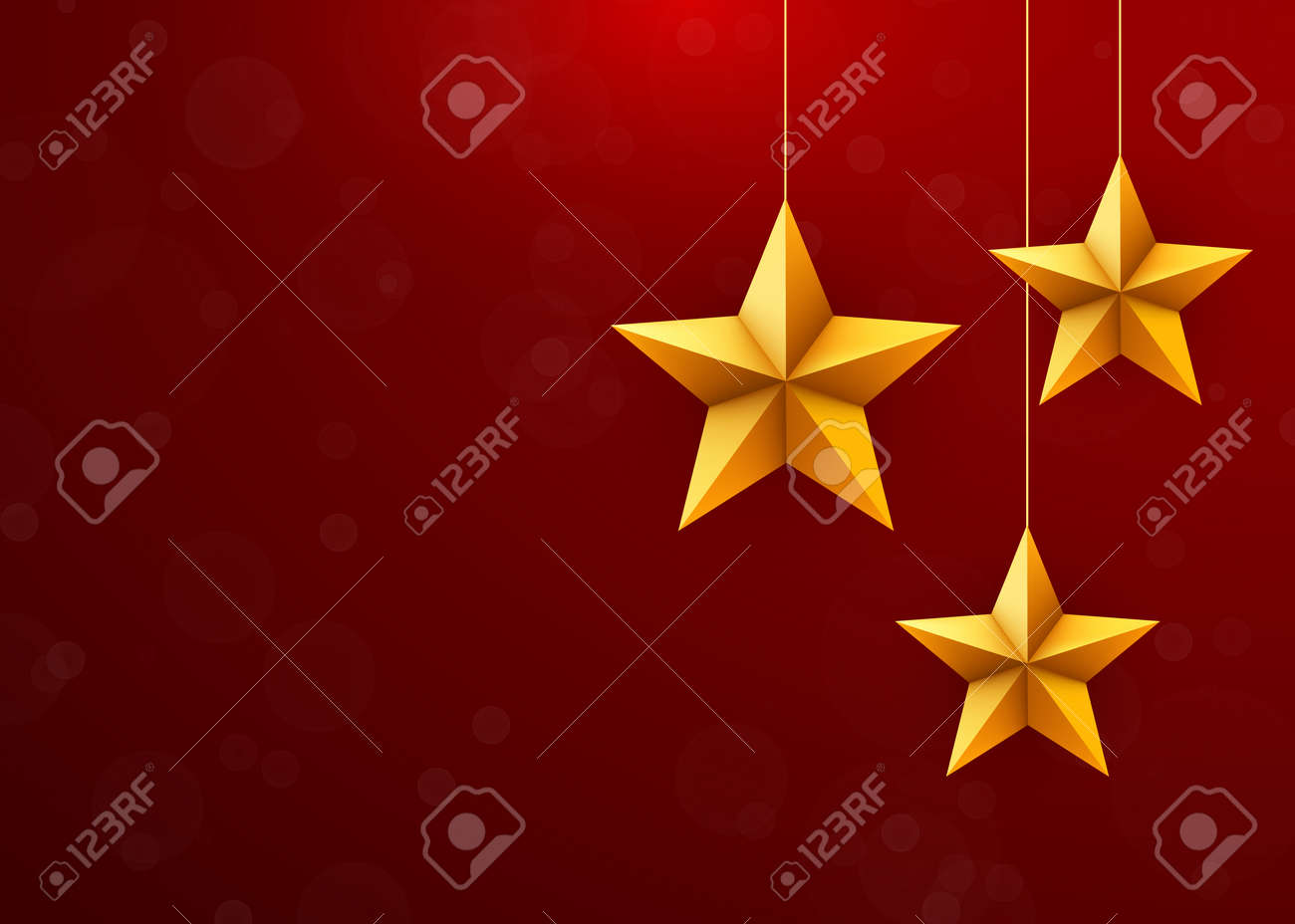 christmas festive background with christmas stars decorations vector illustration stock illustration 109487950