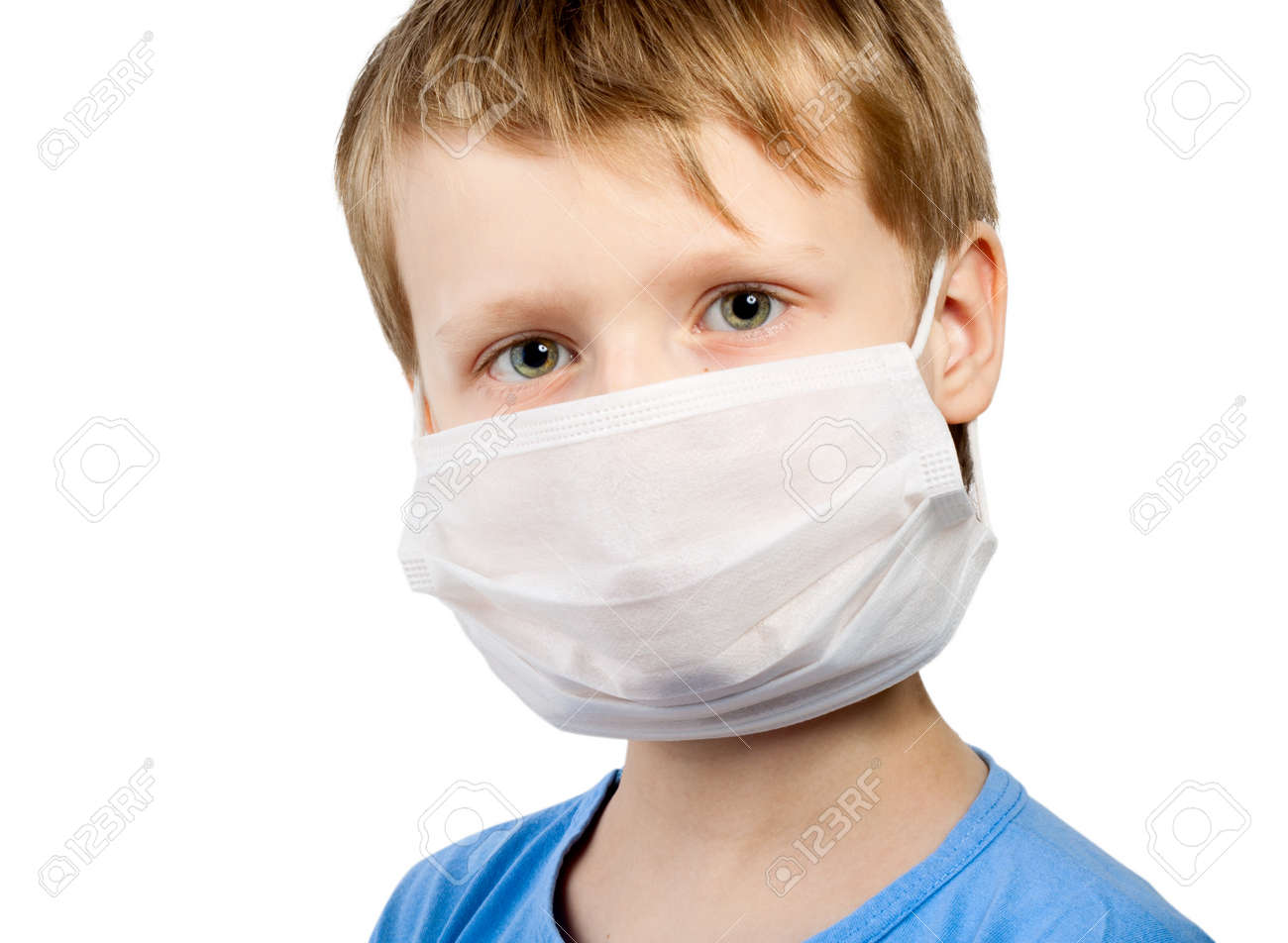 Illness Flu In Child Healthcare Isolated Mask Surgical Medicine Boy