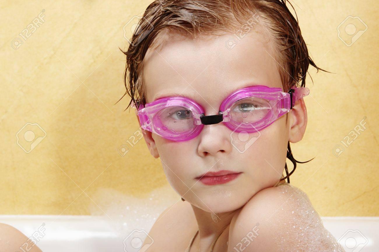 Cute Boy Have Fun In The Bathroom The Boy In The Foam Bath And