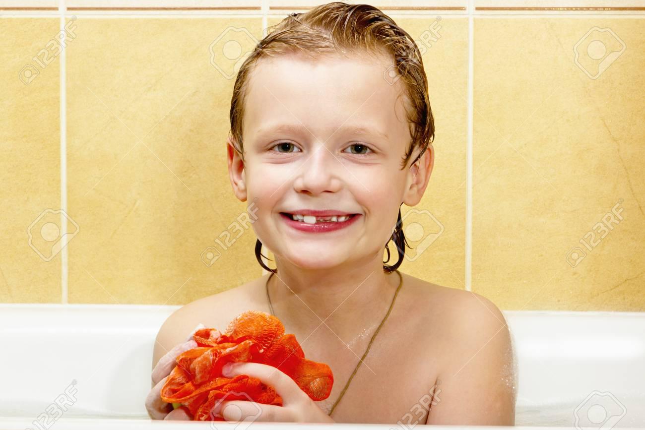 Cute Boy Have Fun In The Bathroom