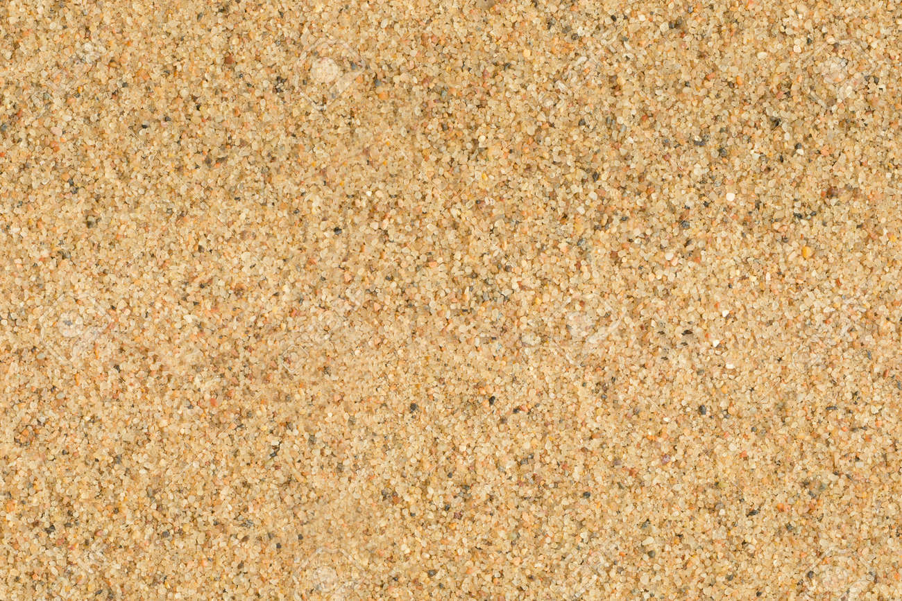Seamless flat golden sand texture Macro - 13592105