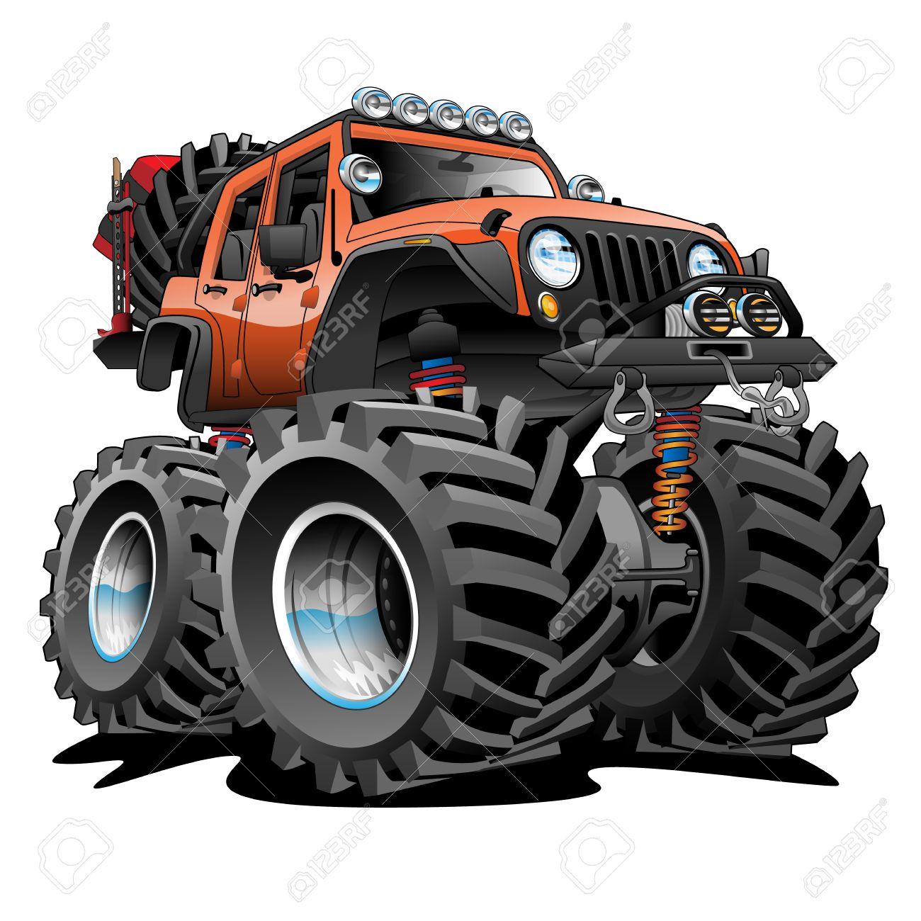 4X4 Off Road >> 4x4 Off Road Vehicle Cartoon Illustration