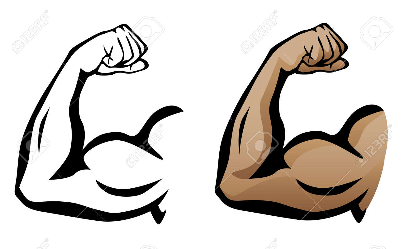 Muscular Arm Flexing Bicep Illustration Royalty Free Cliparts ...