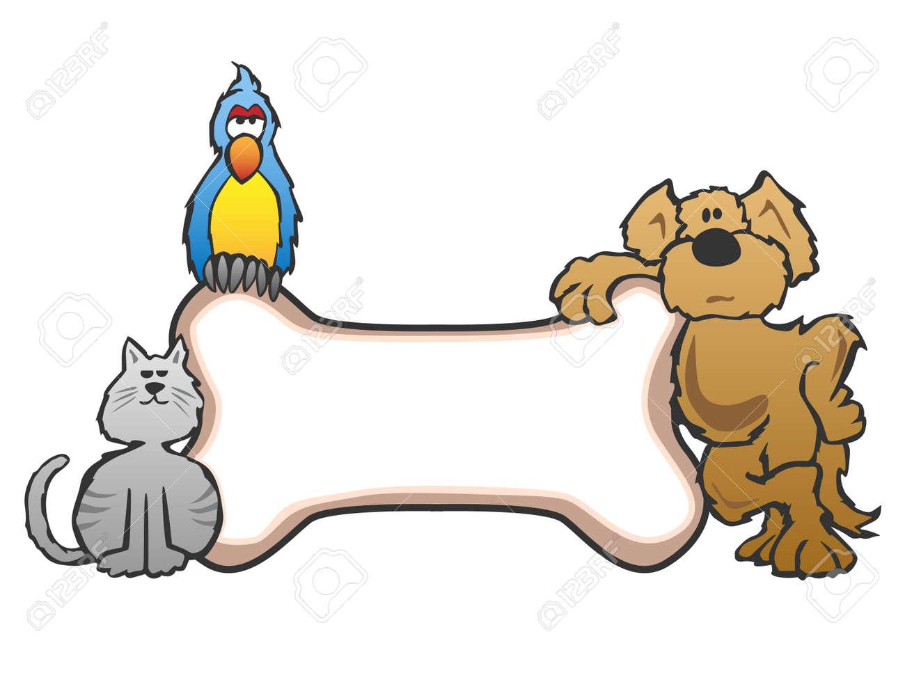 Fresco Dibujo De Hueso De Perro Para Colorear