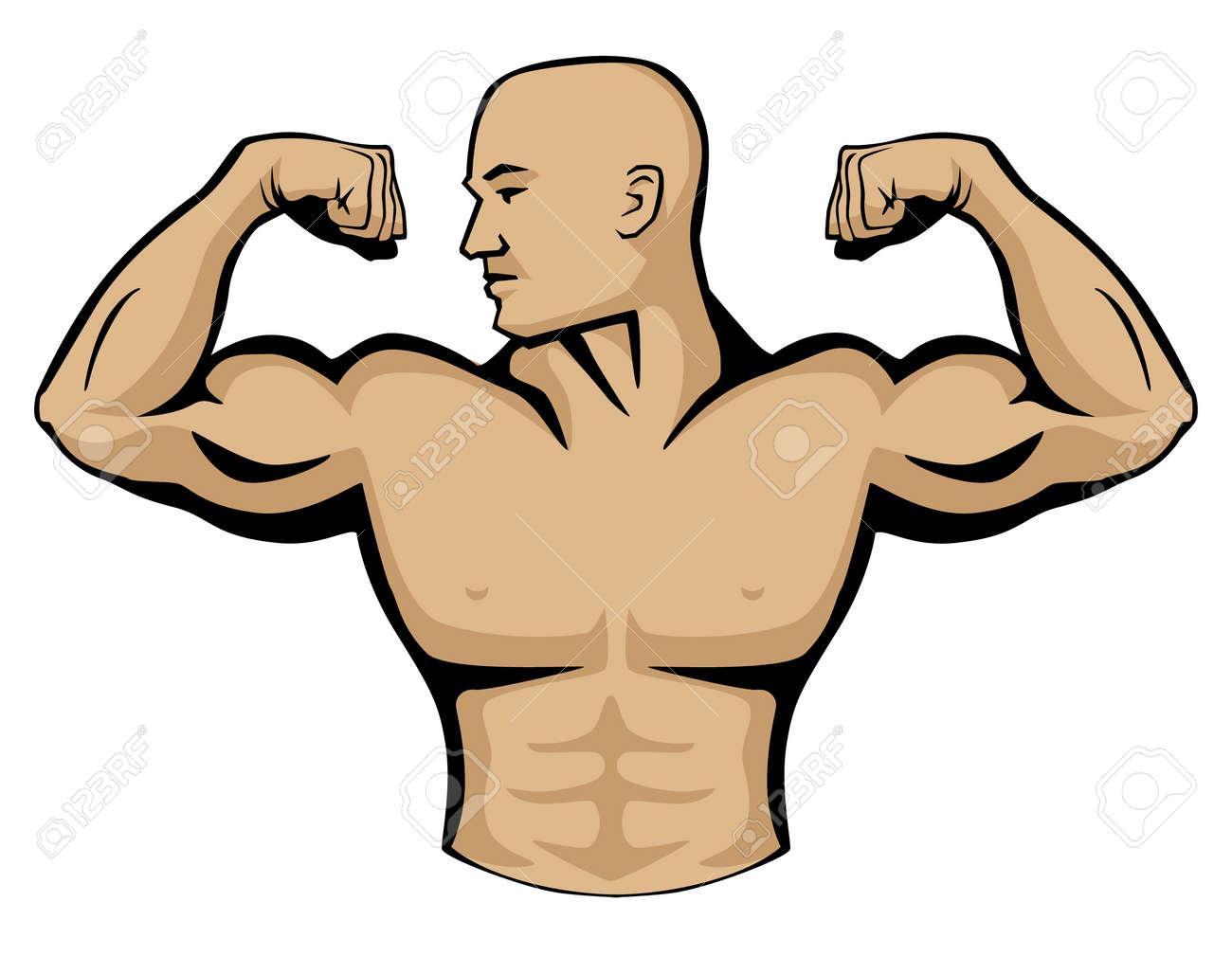 Ilustración De Gráfico Vectorial De Constructor De Cuerpo Masculino ...
