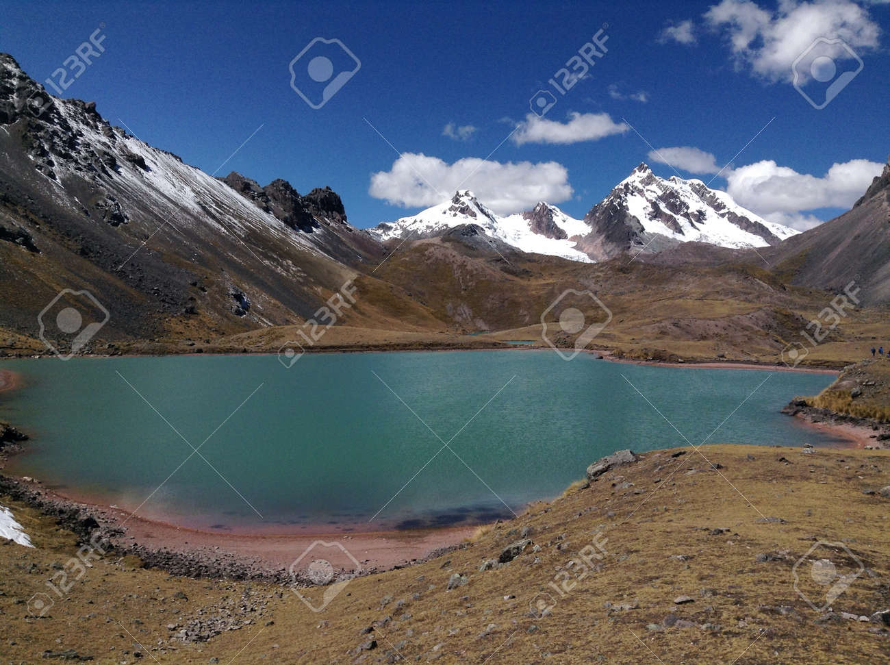Alpine Lake Below Ausangate Peru Stock P O 50986682
