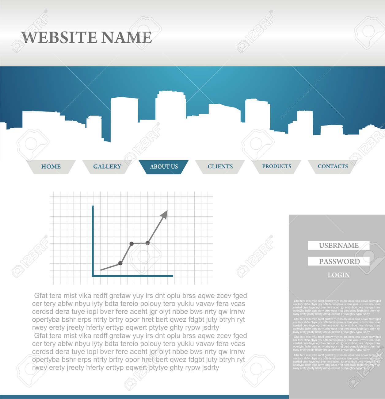web site design template Stock Vector - 5590478