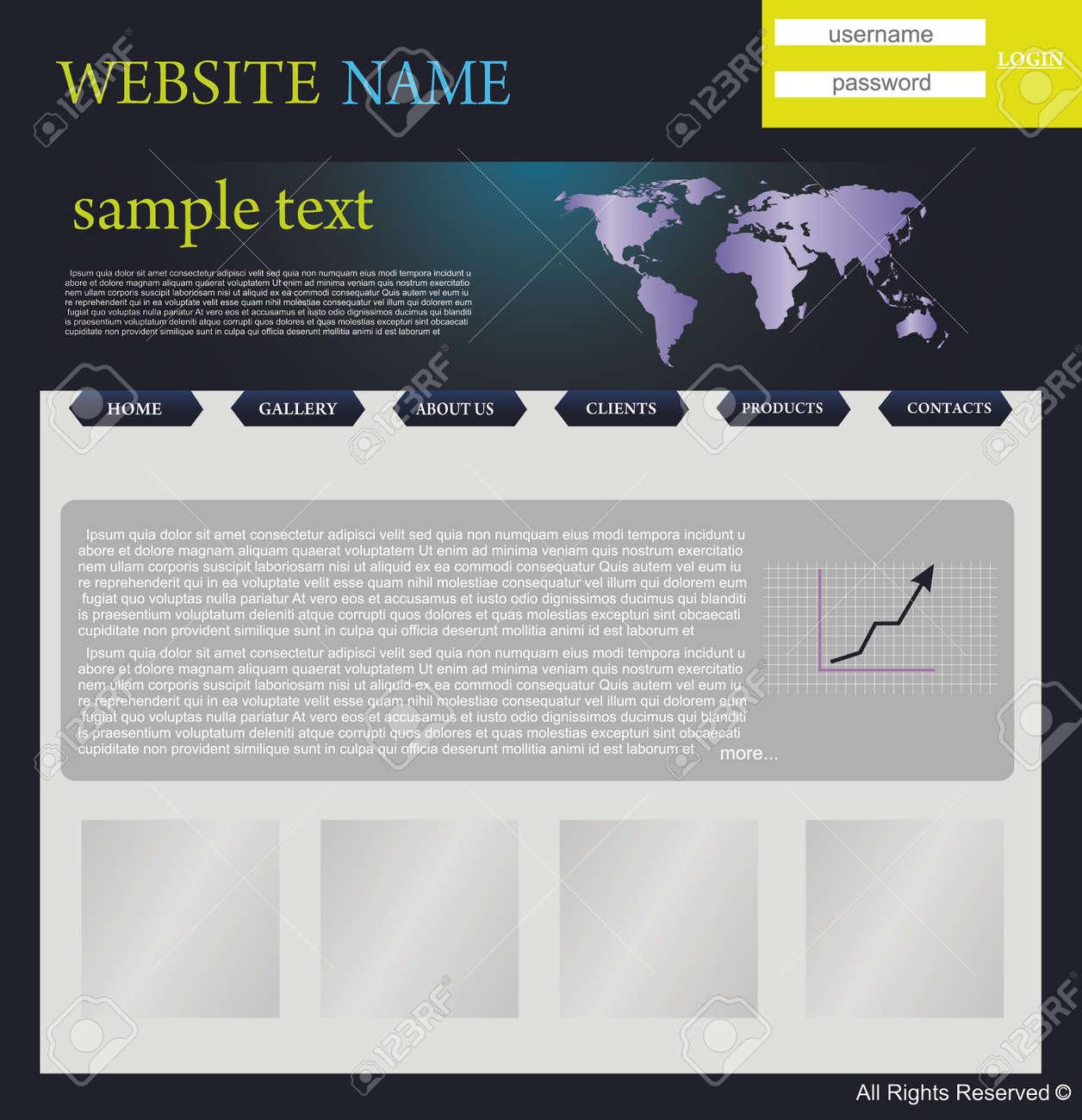 website design template Stock Vector - 5667718
