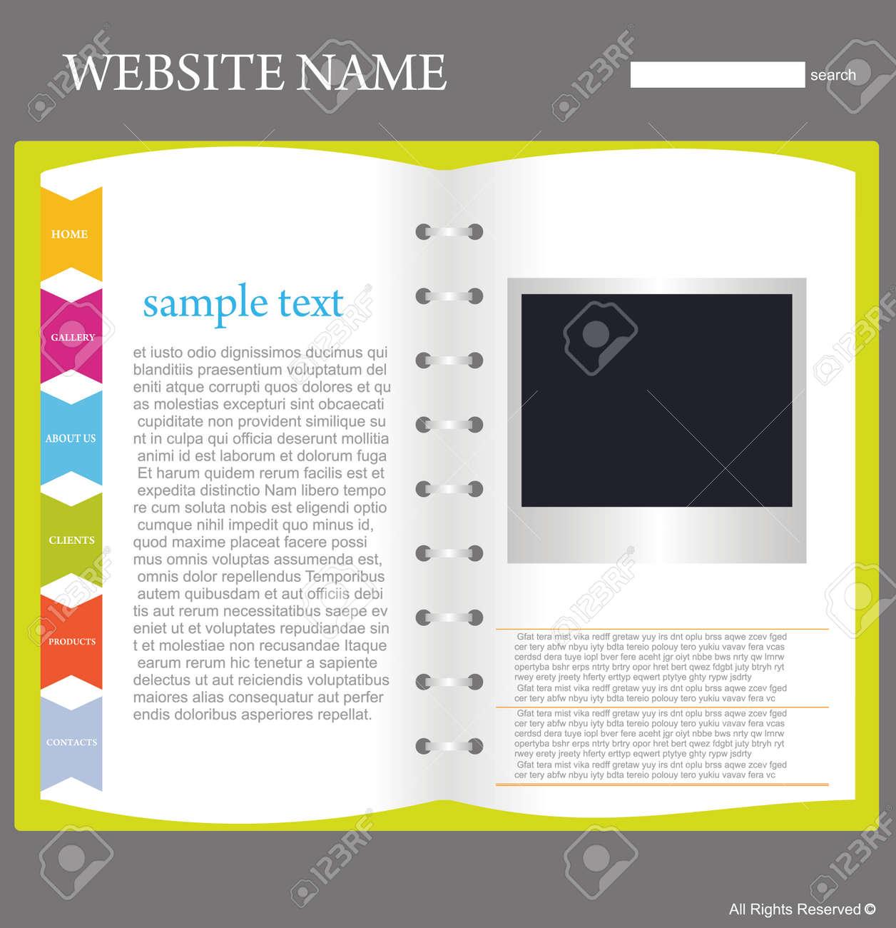 website design template Stock Vector - 5667772