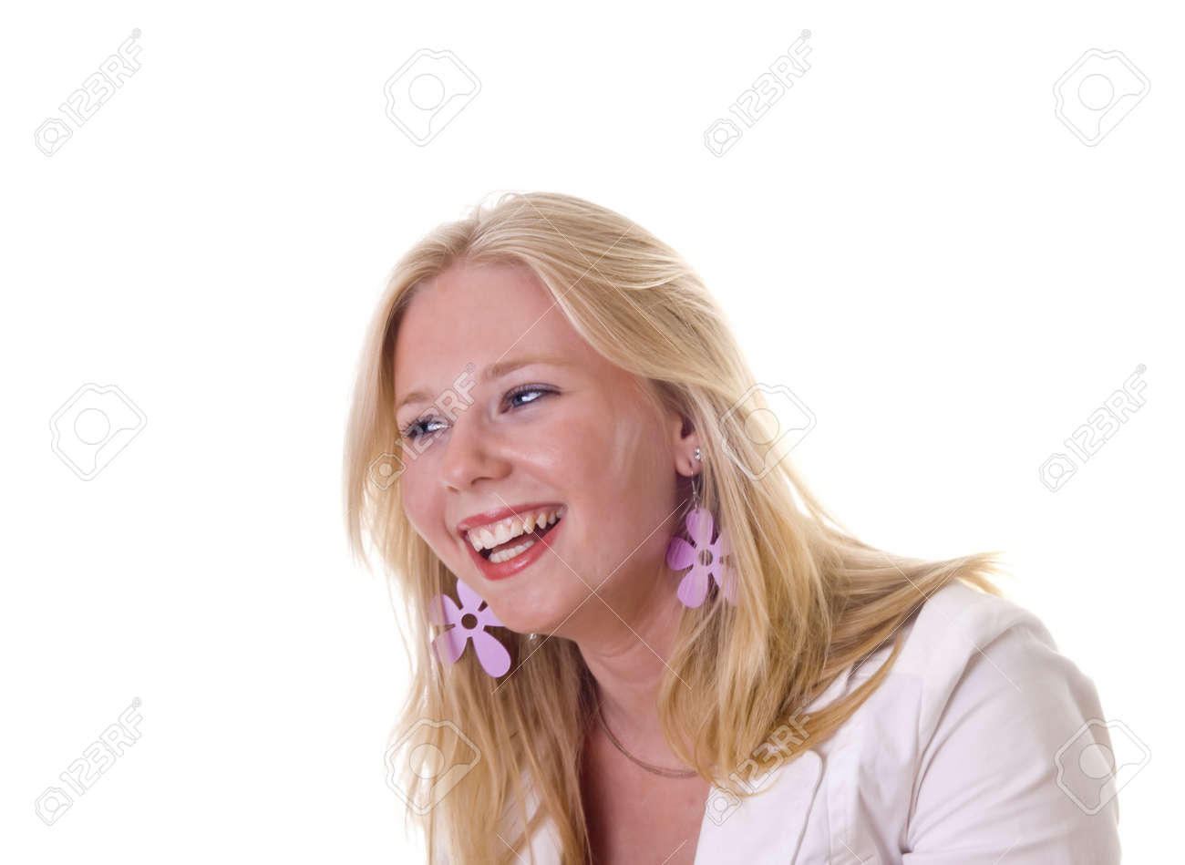 Young blonde girl laughing out loud Stock Photo - 7222731