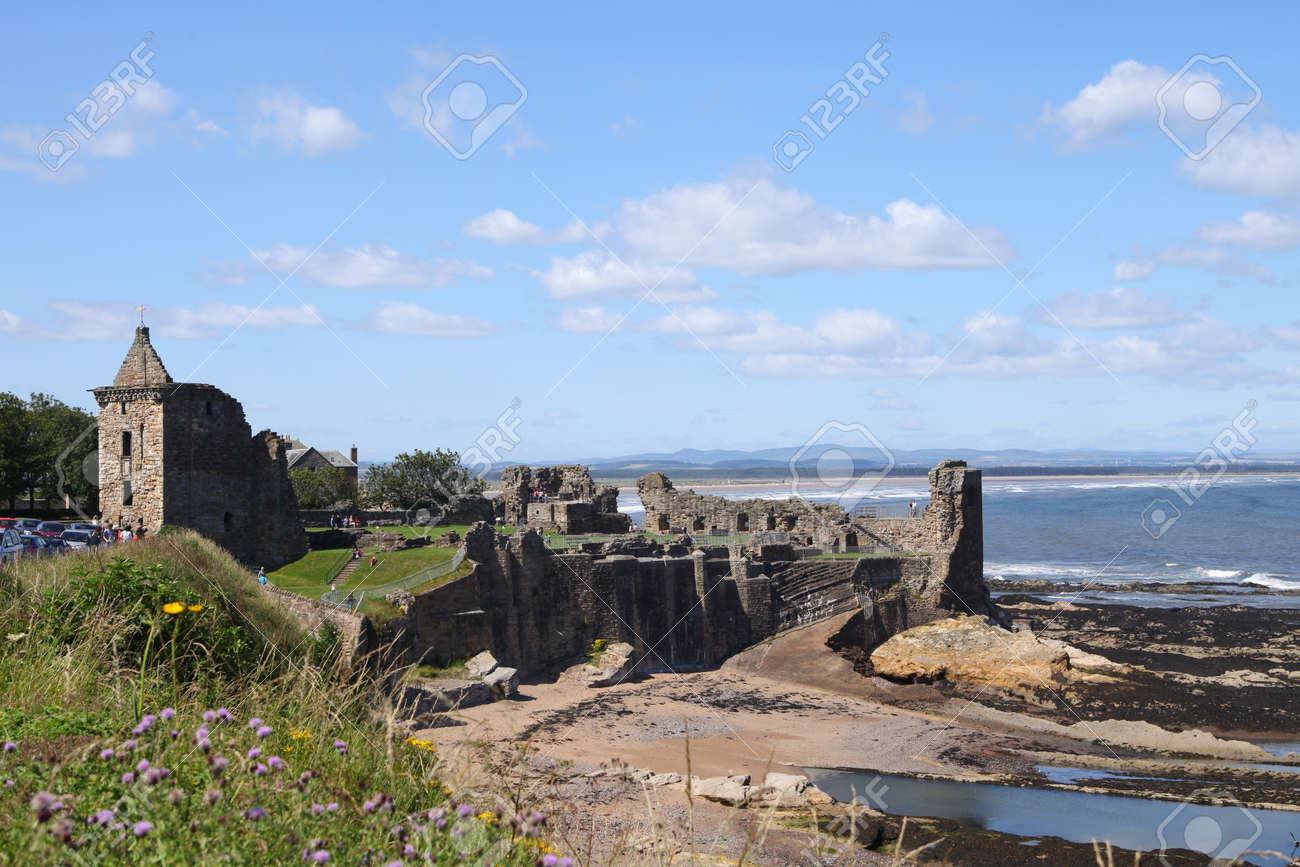 Ancient castle of St Andrews in Scotland Stock Photo - 10499868