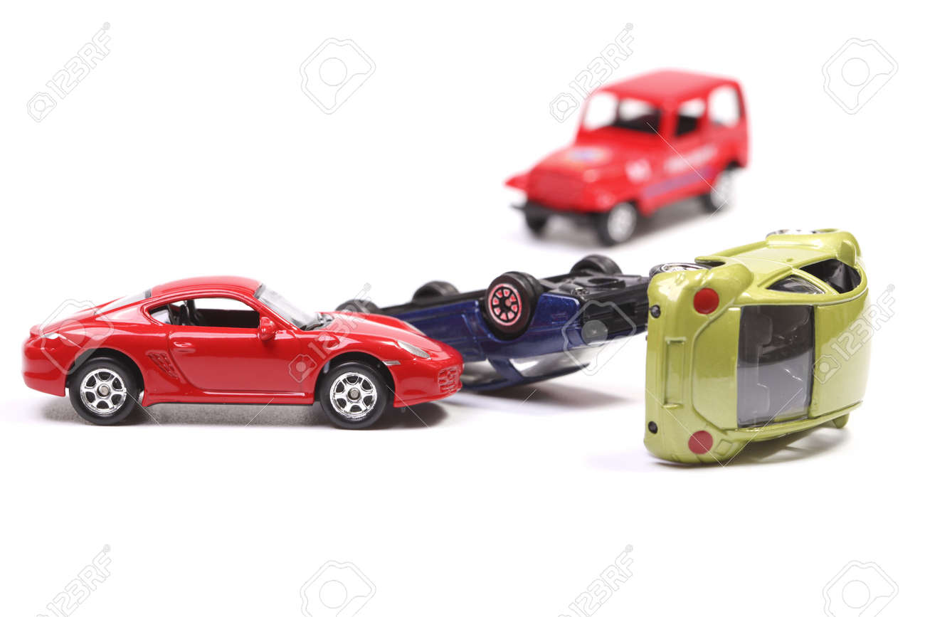Car Crash With Toy Cars Stock Photo Picture And Royalty Free Image