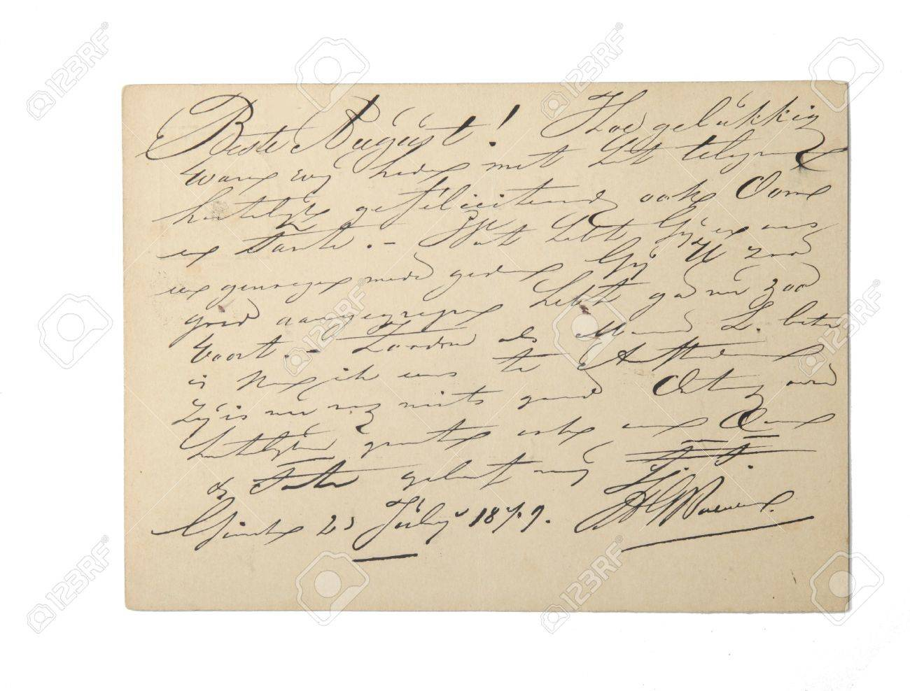 written on a paper images stock pictures royalty written written on a paper vintage dutch written document from 1879