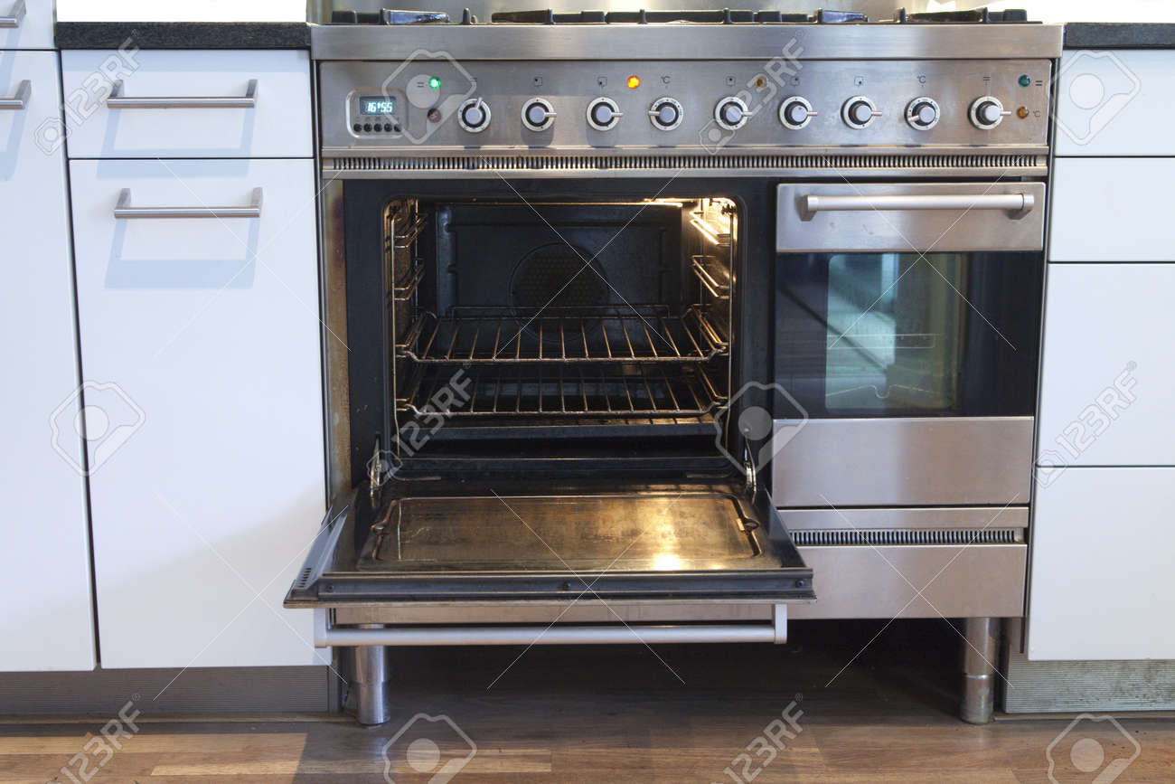 open oven in kitchen. open oven with hot air ventilation stock photo - 13955657 in kitchen o