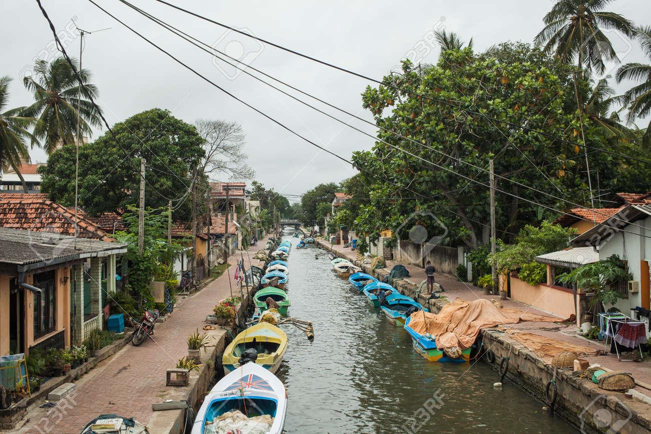 Negombo Sri Lanka August 3 The Dutch Colonial Hamilton Canal