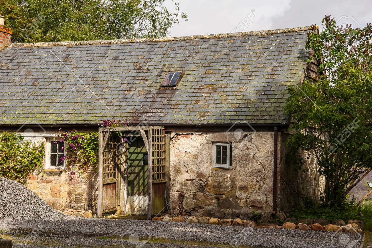 An Old Farm House In Scotland Decay Stock Photo