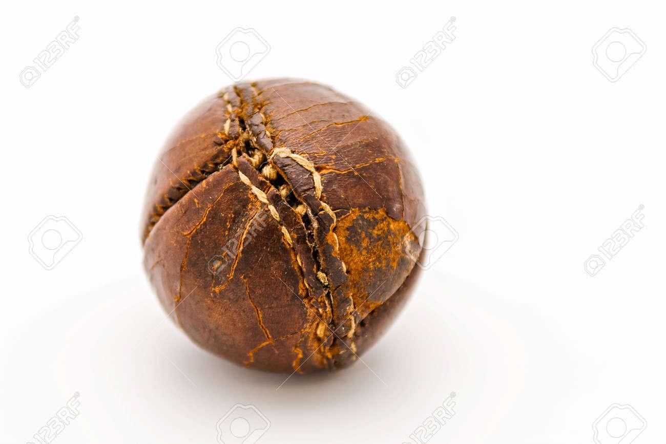 Original vintage fifties brown leather baseball - 24633756
