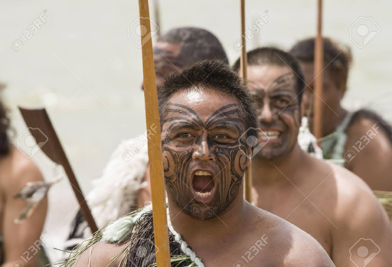 Attractive Maori Krieger Gallery Of New Zealand-feb 6 Warrior With Fake Tattoo