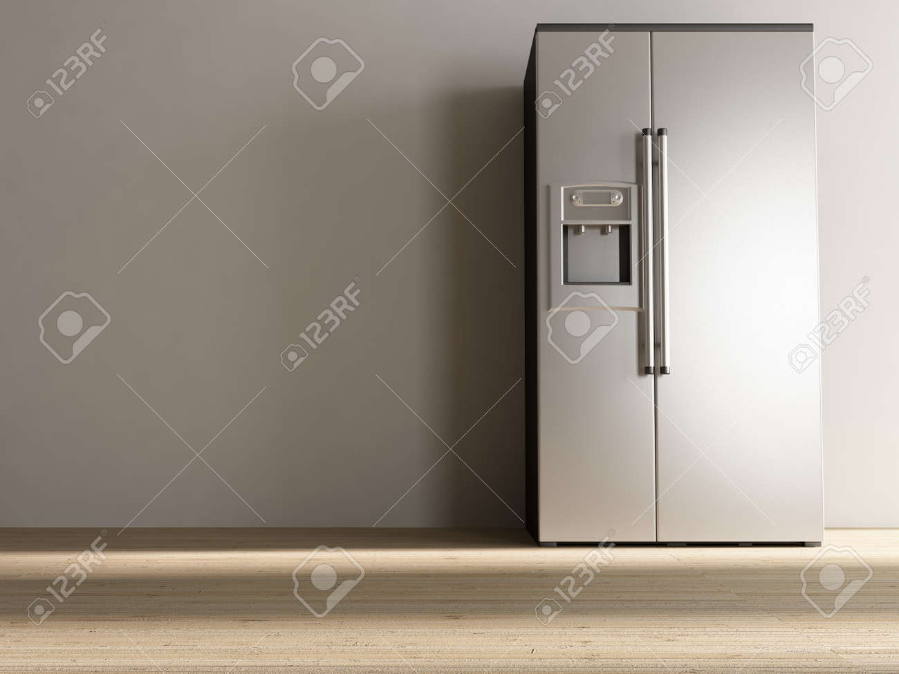 Blank Kitchen Wall Large Refrigerator To Face A Blank White Wall Stock Photo Picture