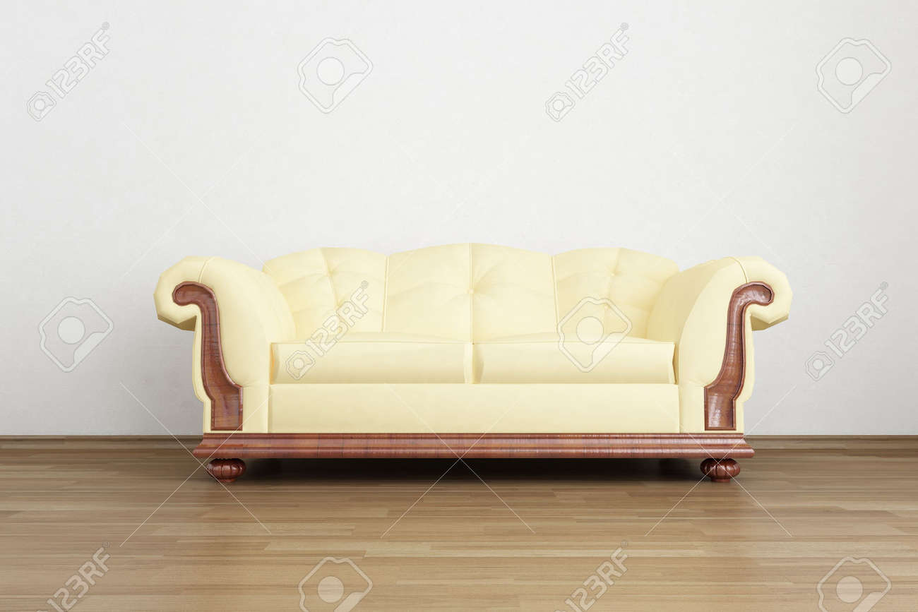 Couch to face a blank wall - 5867567
