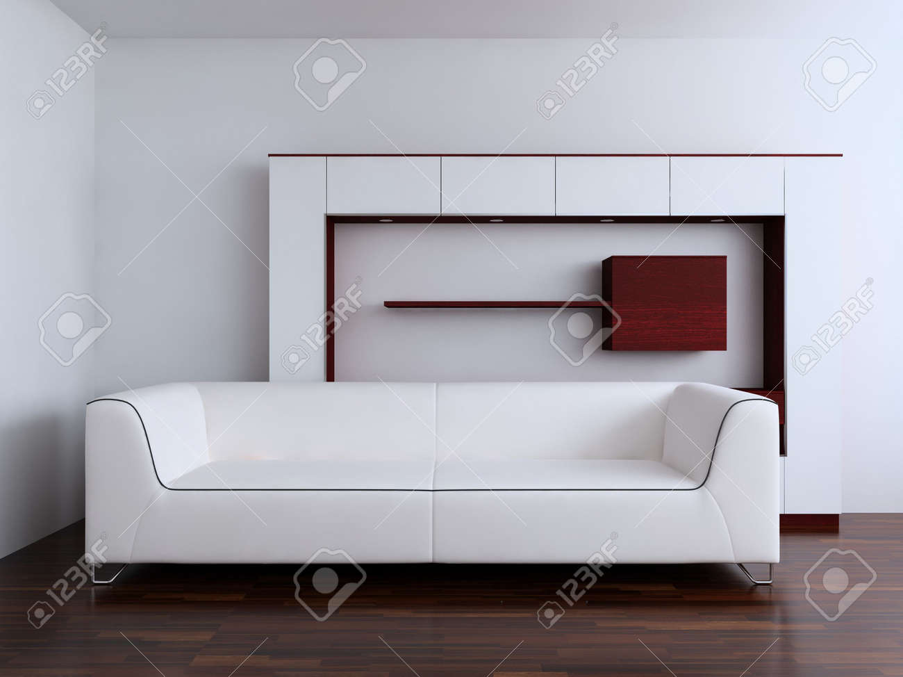 Living Room Setting Simple Living Room Setting Couch And Rack Stock Photo Picture
