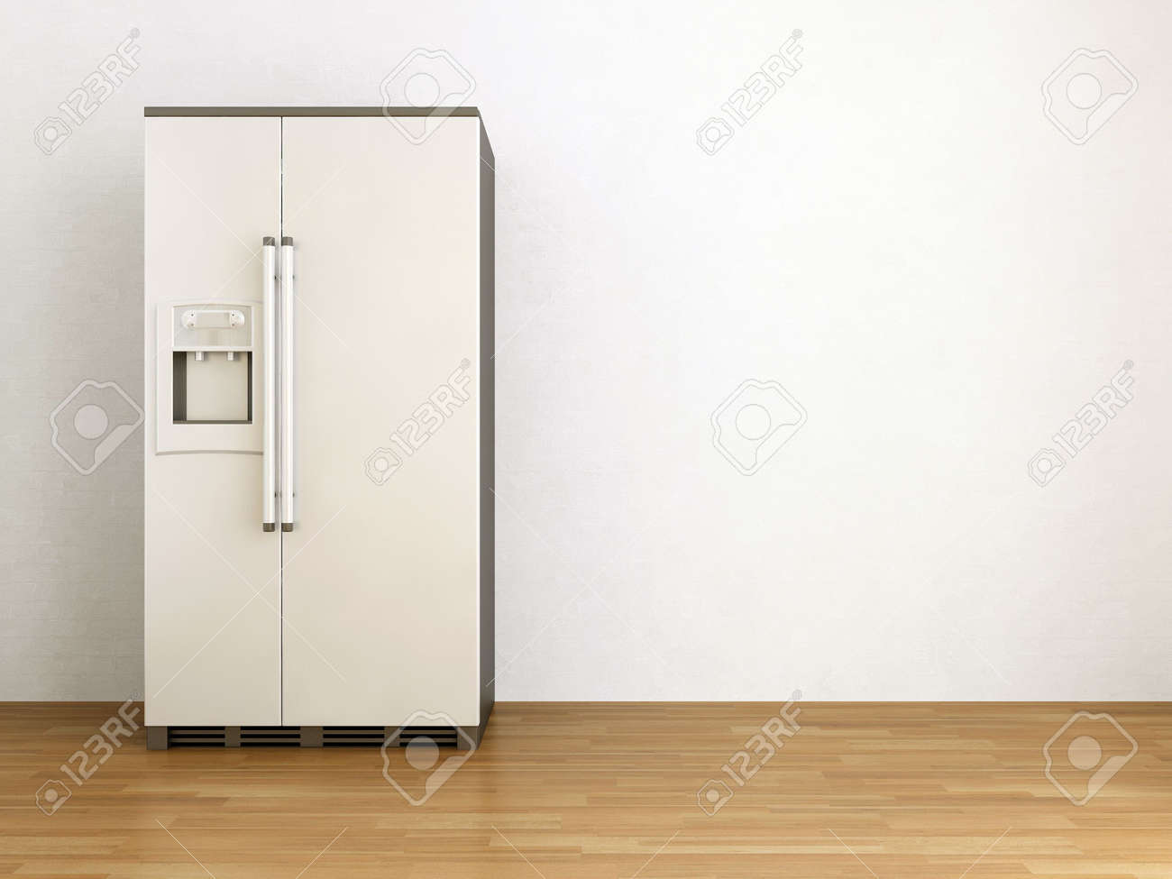 White refrigerator to face a blank wall - 5867551