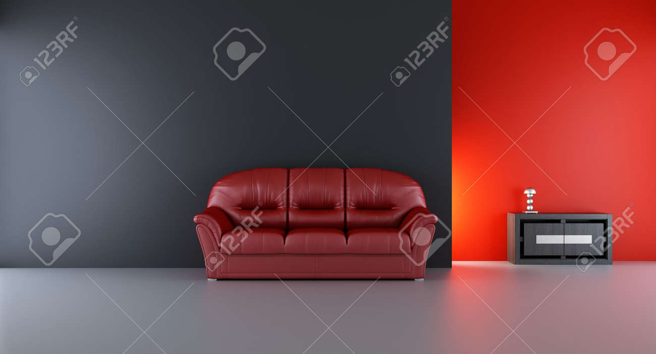 Couch to face a blank wall - 5867556