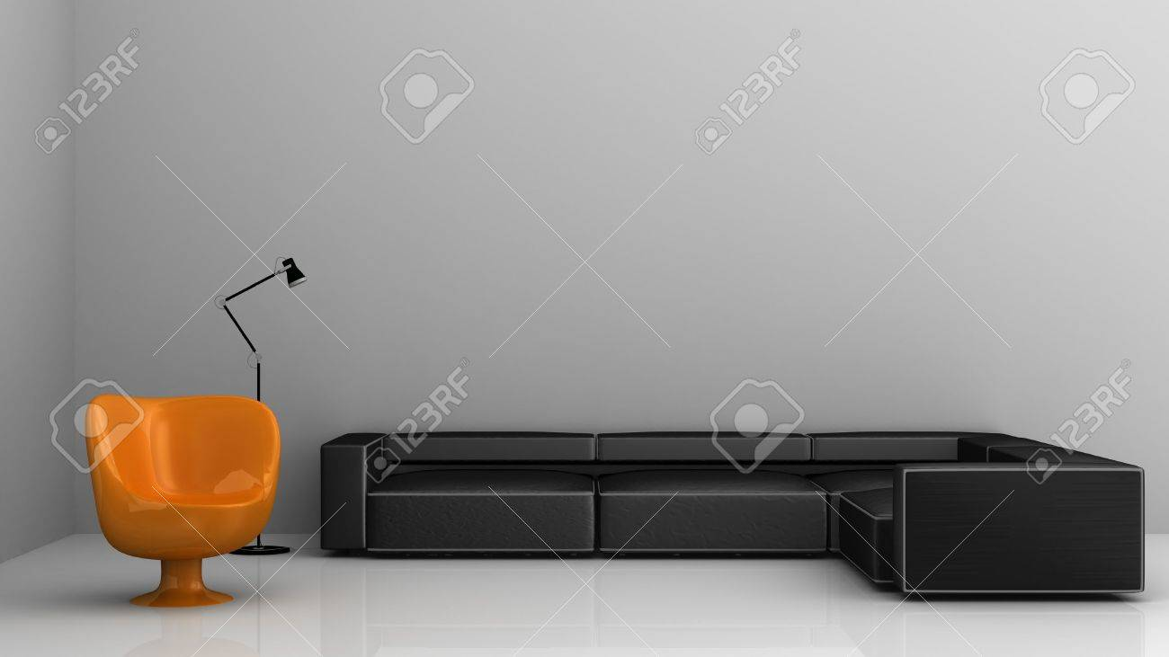 Living Room Setting - armchair and sofa - 5867575