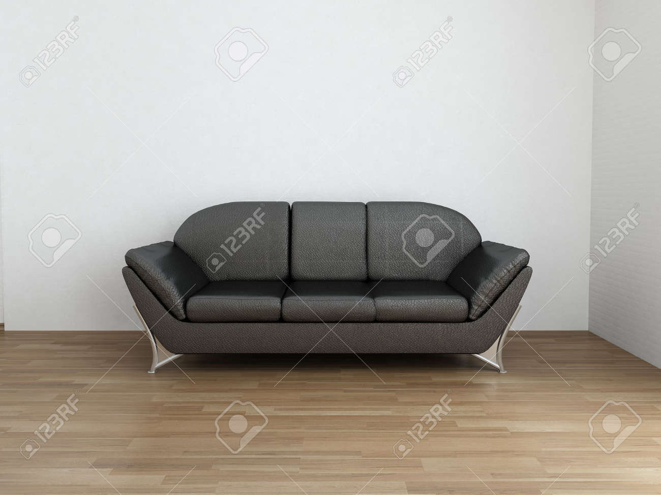 Incredible Black Leather Couch To Face A Blank Wall Machost Co Dining Chair Design Ideas Machostcouk