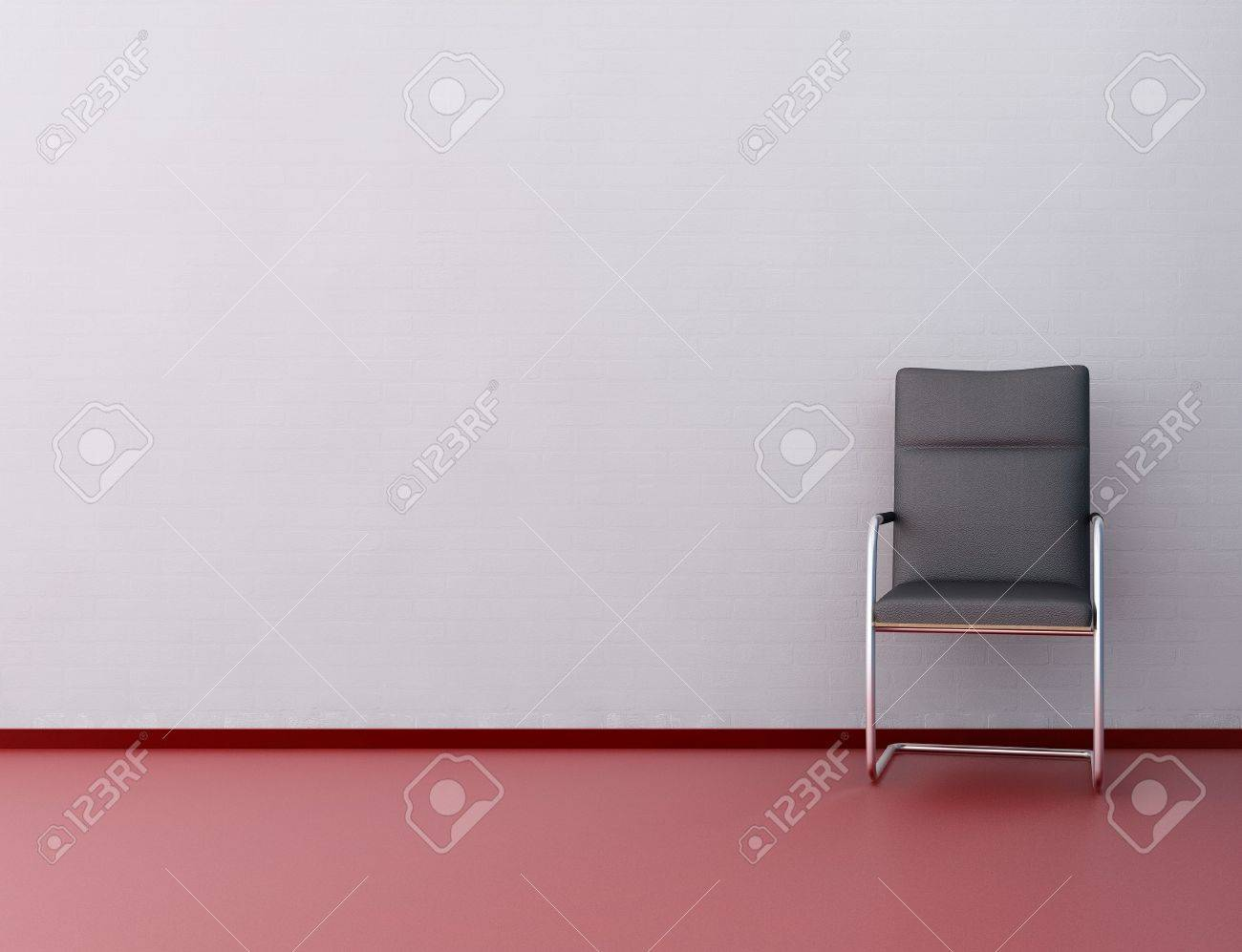 Modern Office Chair to face a blank white wall - 5937112