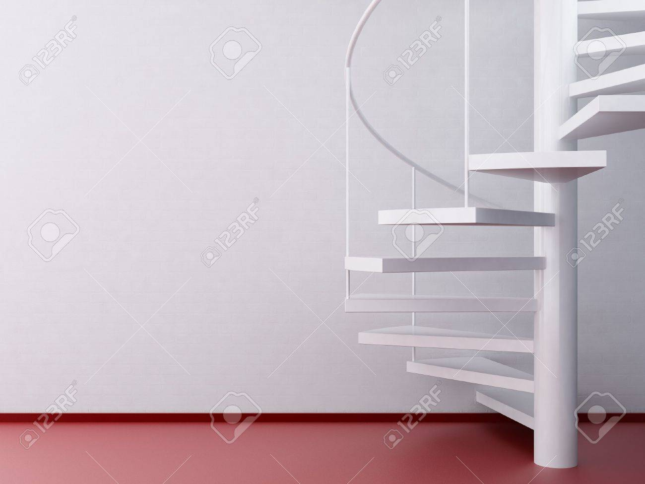 spiral staircase and red floor - 5958423