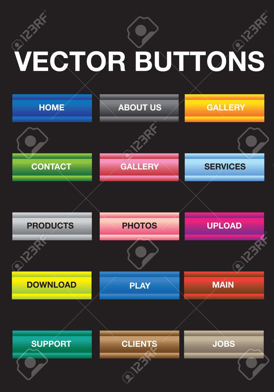 Web Elements Vector Button Illustration Set  Ideal for website Stock Vector - 14752159