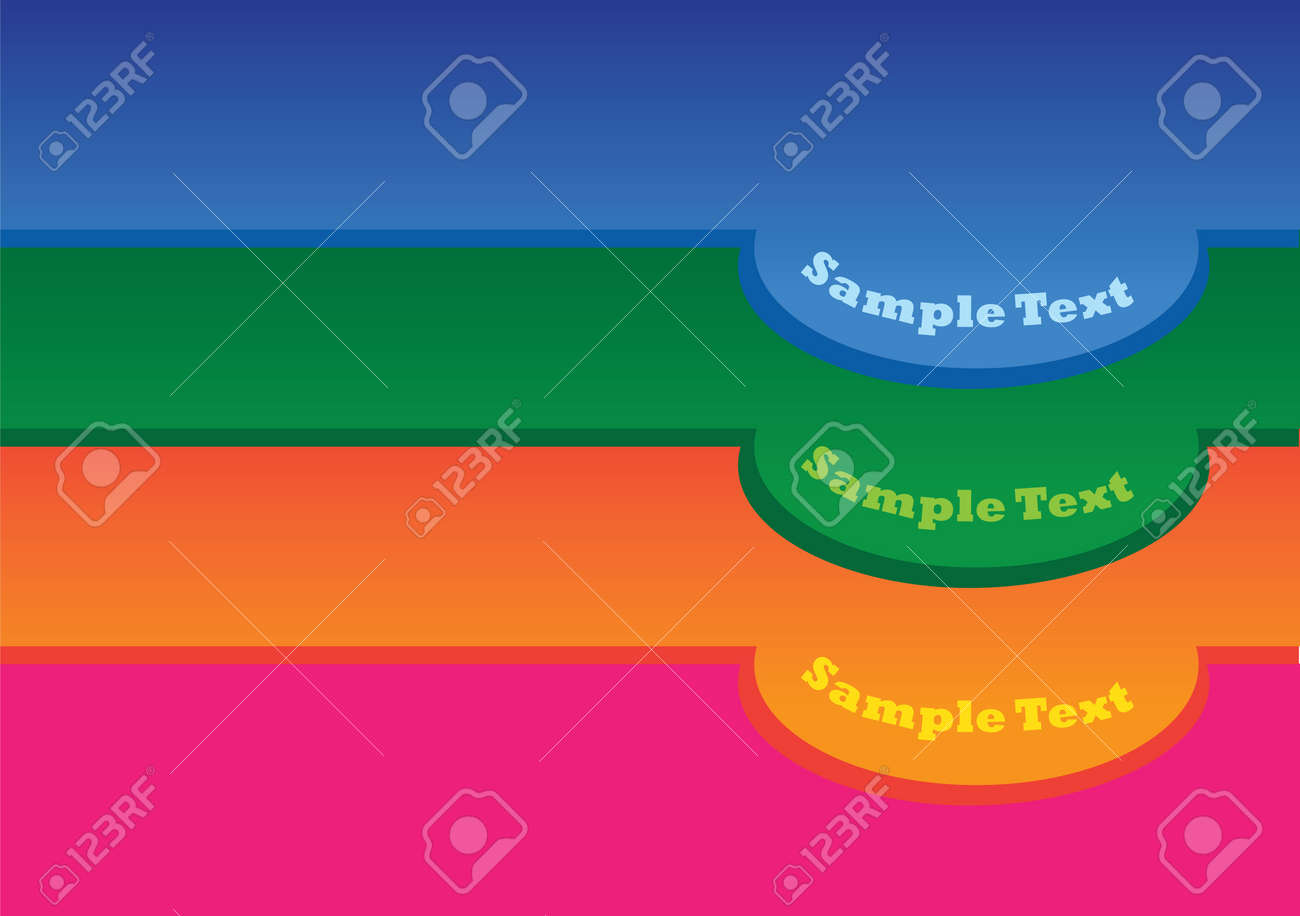 Vector illustration of 3 colors labels in levels Stock Vector - 14829193