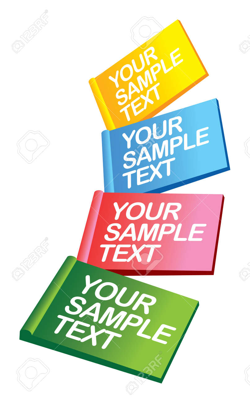 illustration layout of Colorful labels over a background Stock Vector - 14877985